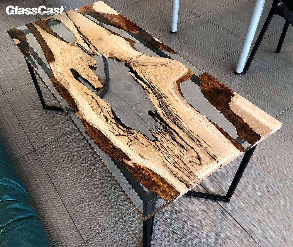 Clear Epoxy Resin River Table