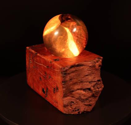 Amber-wisp-wood-and-resin-sphere-lamp-by-whitestocks-design