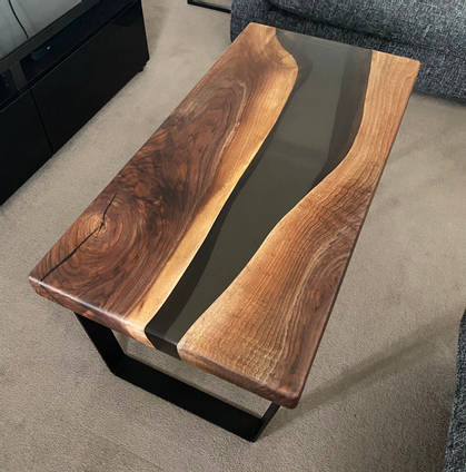American Black Walnut and Resin River Table