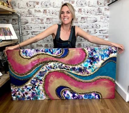 Artist with Geode