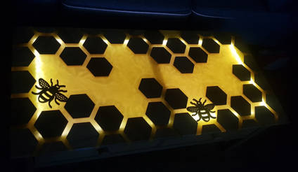 Bee Inspired Table Back Lit