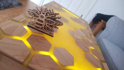 Bee Inspired Table Angled View