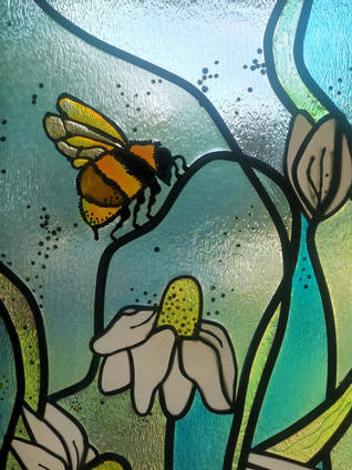 Bee-and-Flower-Stained-Glass-Window