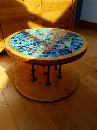 Blue Bottle Cap Table