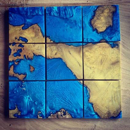 Blue Ocean Coaster Set