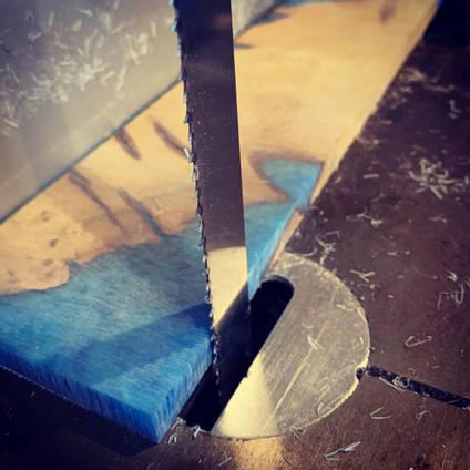 Blue Ocean Coaster Set Cutting