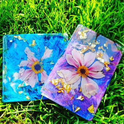 Blue Purple Floral