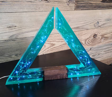 Blue-Resin-Geometric-Triangle-Lamp-by-MB-Resin-art