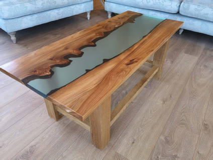 Blue Resin River Table