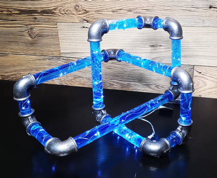 Blue-resin-pipes-lamp-by-MB-Resin-art