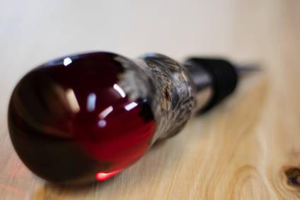 Branco Works Red Bottle Stopper
