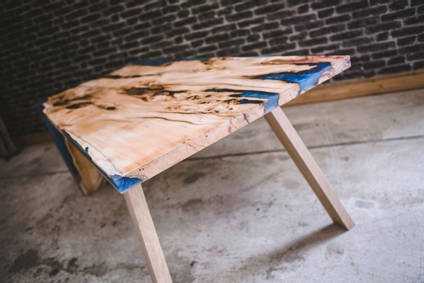 Yew and Blue Resin Table