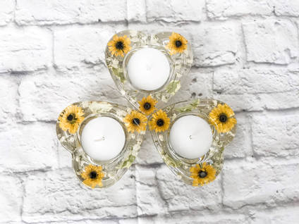 Candle Holders Yellow