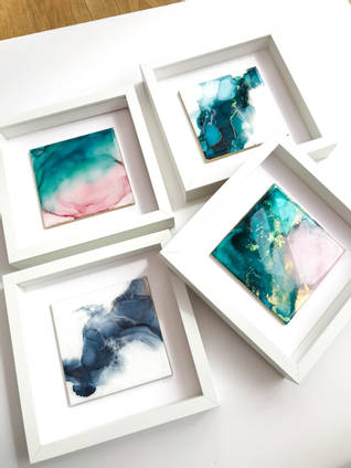 Ceramic Tiles with Alcohol Inks