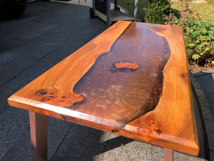 Copper and Elm River Table
