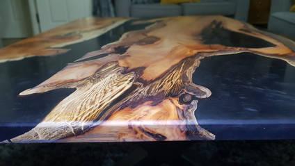 Metallic Yew and Resin Table
