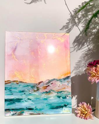 Emily-McSevich-Art-Resin-Coated-Rectangular-Painting
