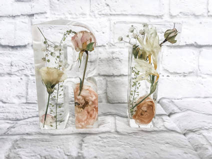 Floral Resin Letters