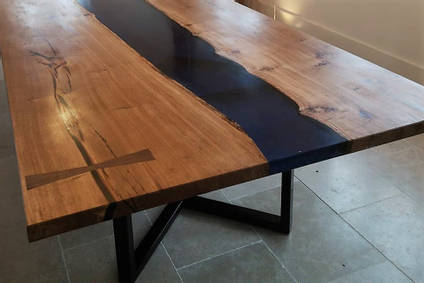 Large Resin River Dining Table