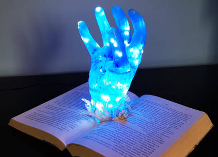 Epoxy Hand Night Lamp by MB Resin Art