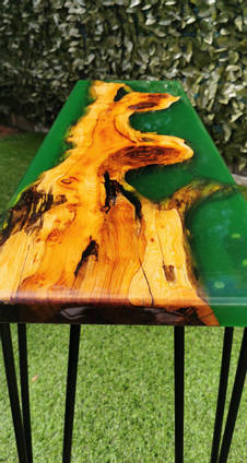 Green Resin and English Yew Tale by Alexander Woodcraft