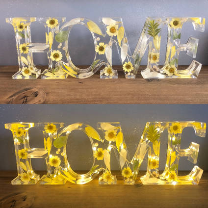 Home Yellow Flower Sign