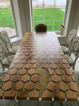 Honey and Honeycomb Dining Table