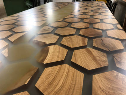 Honey and Honeycomb Table