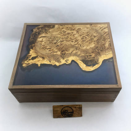 Resin and Wood Jewellery Box