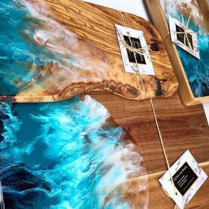 Luna Art Resin Chopping Board