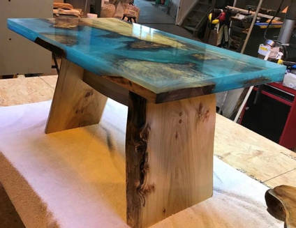 Ocean and Islands Resin Table