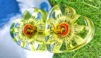 Passion Flower and Resin Heart