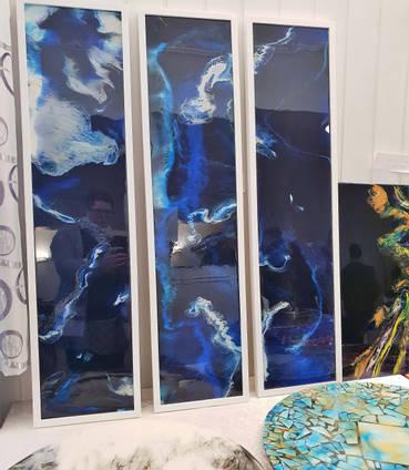 Resin Art Triptych