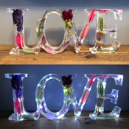 Resin Love Sign