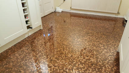 Resin Penny Floor