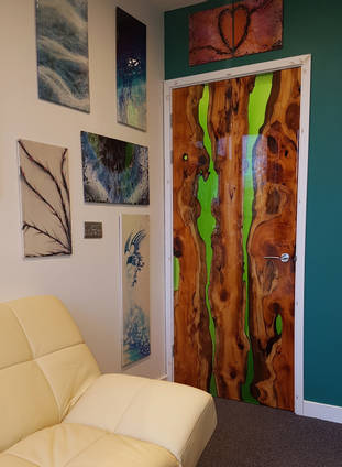 Resin and Yew Door