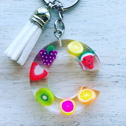 Resin-fruit-keyring-by-EllaSophia