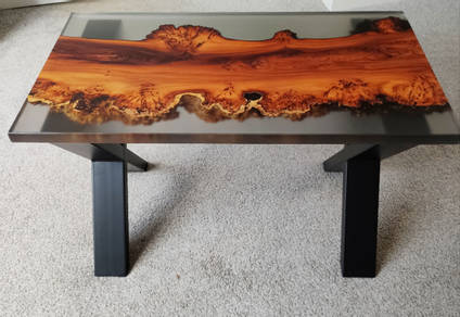 Reverse River Table Side View