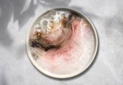 Rose-Water Opal Trinket Dish Geode