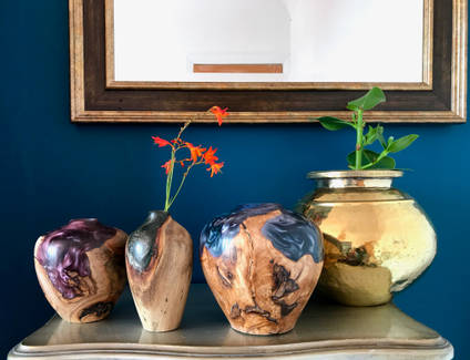 Stonesmith-Design-Wood-and-Resin-Vases
