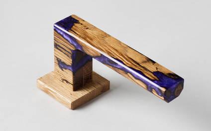 Studio-number-10-purple-wood-and-resin-door-handle