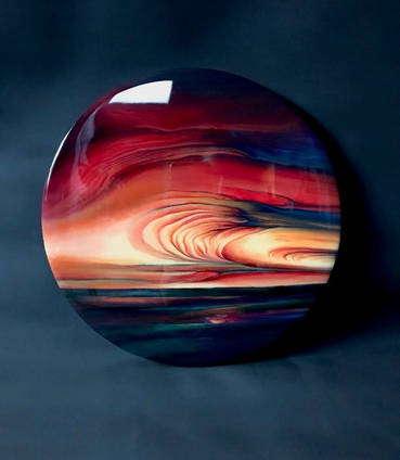Sunset-painting-with-resin-coating-by-Loonar-designs