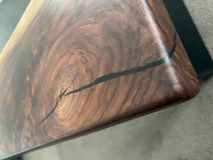 The Epoxy Studio Resin River Table Close Up