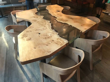 The Riven Oak River Table
