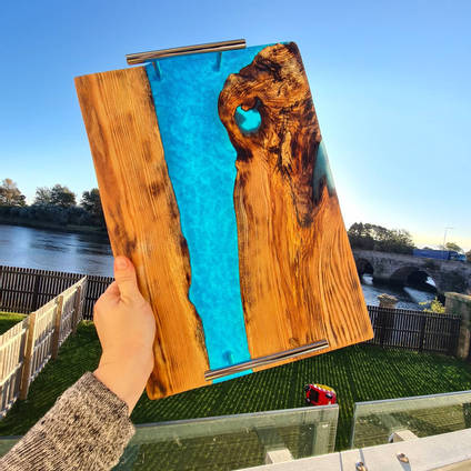 Turquoise-Serving-Board-by-Isahtins-Art