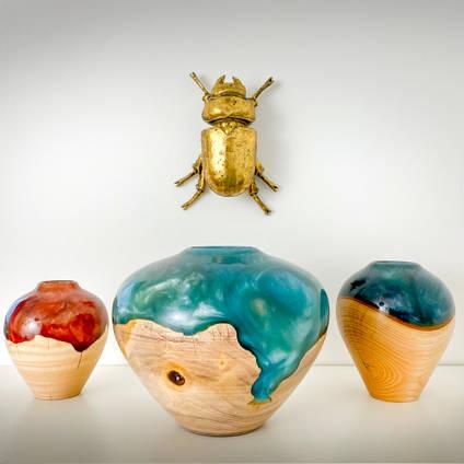 Wood-Turned-Stonesmith-Designs-Vases
