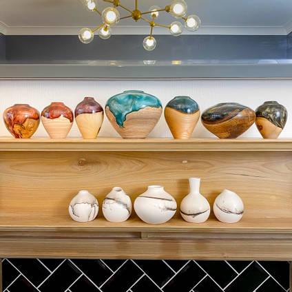 Wood-Turned-Vases-Stonesmith-Designs