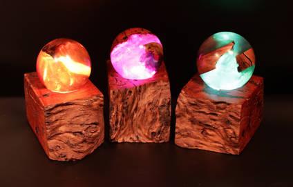 Wood-and-Resin-Dragon-Eggs-Lamp-Trio-by-Whitestocks-Design