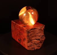 Wood and Resin Turned Sphere Lamps Thumbnail