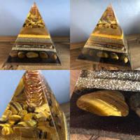 Black and Gold Orgone Pyramid Thumbnail